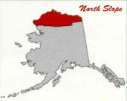 Alaska with North Slope red